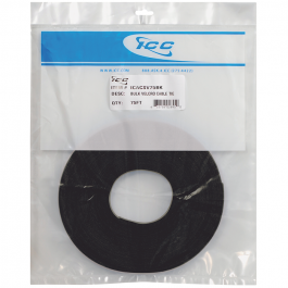 "ICC ICACSV75BK 0.5"" Width VELCRO Brand Cable Tie Wrap 75FT Black"