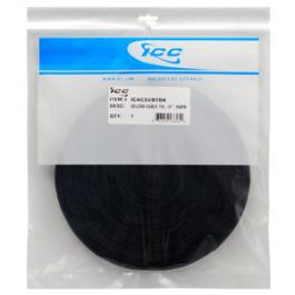 "ICC ICACSVBTBK 12"" VELCRO Brand Cable Tie Roll Color - Black"