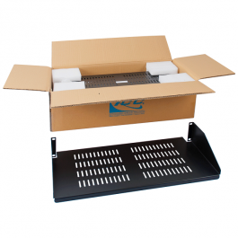 "ICC ICCMSRSVC1 10"" Single Vented Rack Shelf"