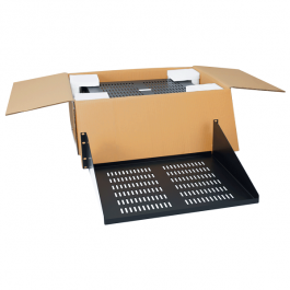 "ICC ICCMSRSVC2 15"" Deep Single Sided Vented Rack Shelf"
