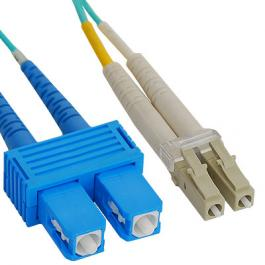 ICC ICFOJ2G703 LC-SC 3M 10G 50/125 m OM3 MM Duplex Fiber Optic Jumper