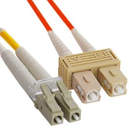 ICC ICFOJ2M310 LC-SC 10M 62.5/125 m OM1 MM Duplex Fiber Optic Jumper