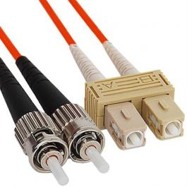 ICC ICFOJ9C301 SC to ST 1M Multimode Duplex Fiber Optic Jumper