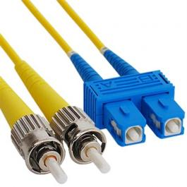 ICC ICFOJ9C501 SC to ST 1M Singlemode Duplex Fiber Optic Jumper
