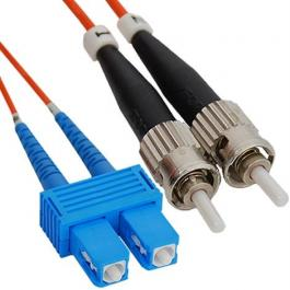 ICC ICFOJ9C702 SC to ST 2M Multimode Duplex Fiber Optic Jumper
