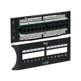 ICC ICMPP12F5E 12-Port CAT5e Front Access Patch Panel