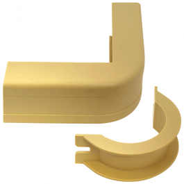 "ICC ICRW13OBIV 1 3/4"" Outside Corner Covers & Base"