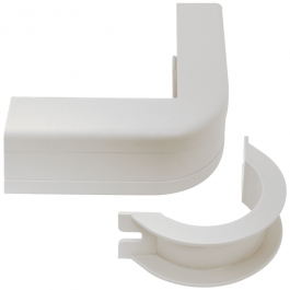 "ICC ICRW44UCWH 1 3/4"" Outside Corner & Base - White"