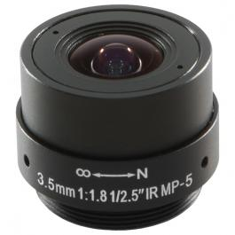 Arecont Vision MPL3.5 3.5mm, 1/2.5 in., f1.8, Monofocal Lens
