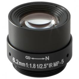 Arecont Vision MPL6.2 6.2mm, 1/2.5 in., f1.8, Monofocal Lens