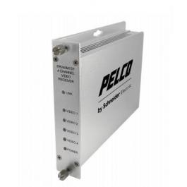 Pelco FTV40S1FC 4-Channel Video Fiber Transmitter SM FC Connector