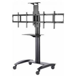 Peerless SR555M Video Conference Cart with Metal Shelf