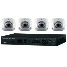 Interlogix TVN-1004-KW2 4-Ch NVR 2TB w/4 HD 3MPx Wedge Cameras Kit