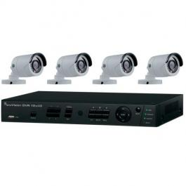 Interlogix TVR-1204HD-KB6 4Ch HD-TVI 2TB DVR w/4 IR Bullet Cameras Kit