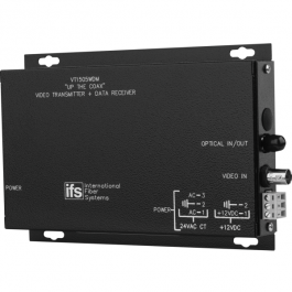 Interlogix VR1505WDM Video Receiver/Data Transmitter - 1 Fiber