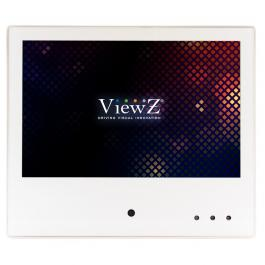"ViewZ VZ-PVM-I1W4 10.1"" White IP Public View Monitor"