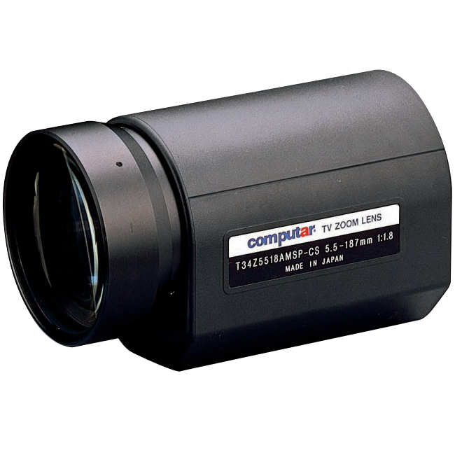 Computar T34z5518dc 1 3 In 34x Motorized Zoom Lens Cs Mnt