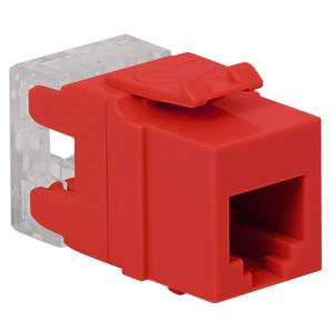 Icc ic1076f0rd hd rj 11 keystone jack red for 1076 door position switch