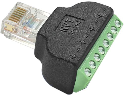 nvt nv rj45a rj45 screw terminal block adapter nv rj45a nvt twisted pair accessory