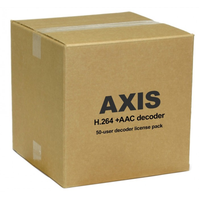 Axis 0160-060 H.264 +AAC Decoder 50-User License Pack