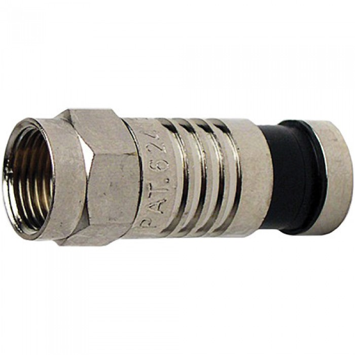 Platinum Tools 18011 F RG59 Compression Connector Nickel Plate