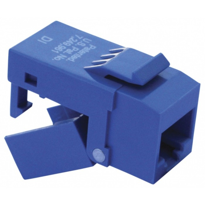 Platinum Tools 706BL-1 EZ-SnapJack Cat 6 Blue