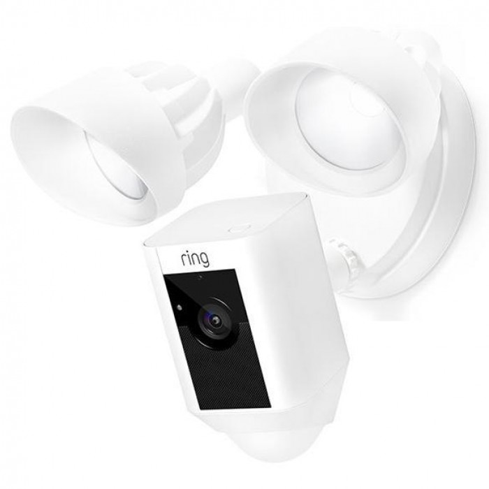 Ring 88FL000CH000 Outdoor Wi-Fi Cam with Motion Activated Floodlight, White