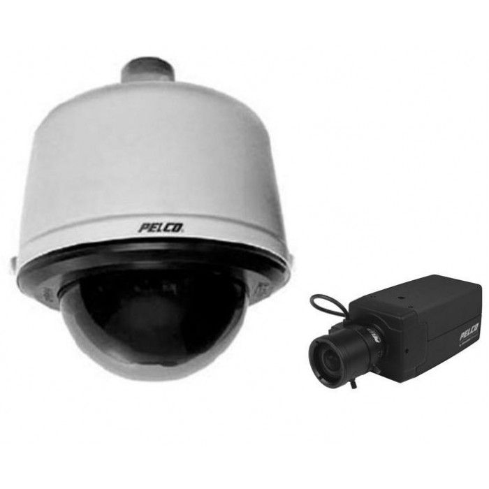 Pelco DF8PJ-PB-1R75A DomePak Clear Black Pendant WDR Camera