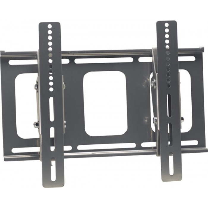 Video Mount Products LCD-MID-FT SILVER-Flat Panel Flush w/ Tilt Mount for Universal 27-inch to 42-inch LCD Monitor