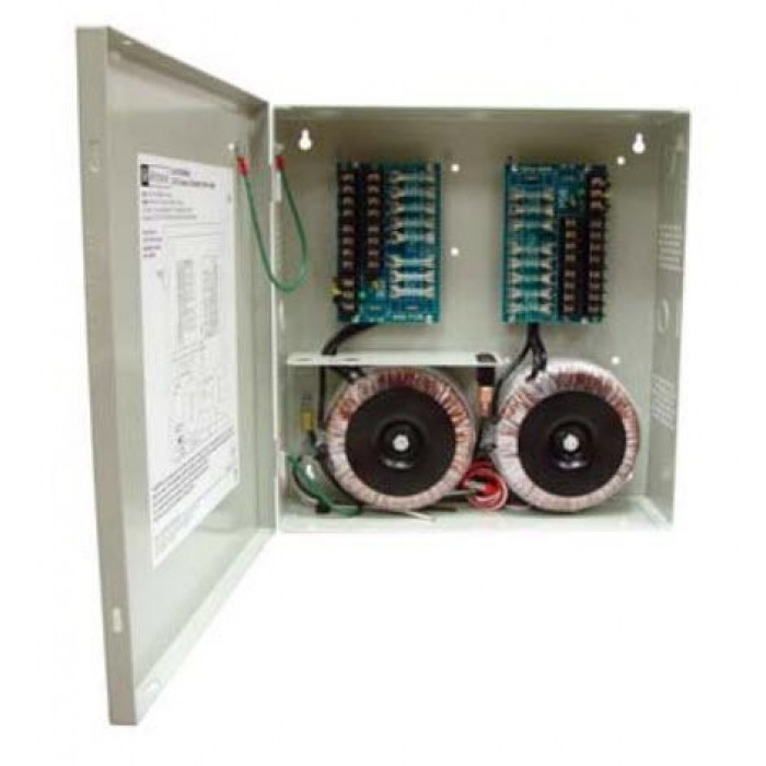 Altronix ALTV2416600ULCB 16 Output Power Supply, 24/28 VAC, 25/20 Amp, Circuit Breaker, UL Listed
