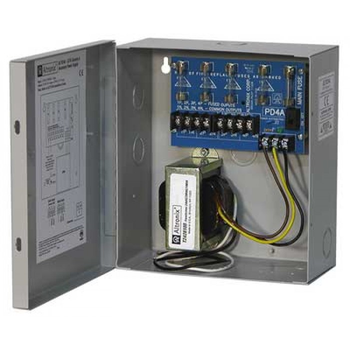 Altronix ALTV244 Power Supply, 24/28 VAC, 4.0/3.5 Amp, Fused