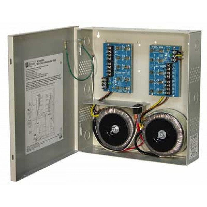 Altronix ALTV248600ULCB 8 Output Power Supply, 24/28 VAC, 25/20 Amp,  Circuit Breaker, UL Listed