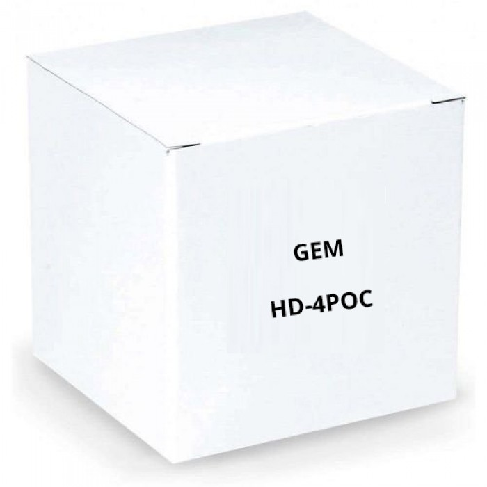 GEM HD-4POC 1080p High Performance 4 Position Hub, Video/Power Over Coax,  1300 feet, Kit