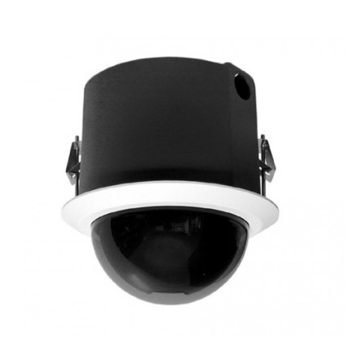 Pelco SD4E23-F0-X 540 TVL In-Ceiling Indoor Network IP Dome Camera, Smoked, Black, 23X Lens, PAL