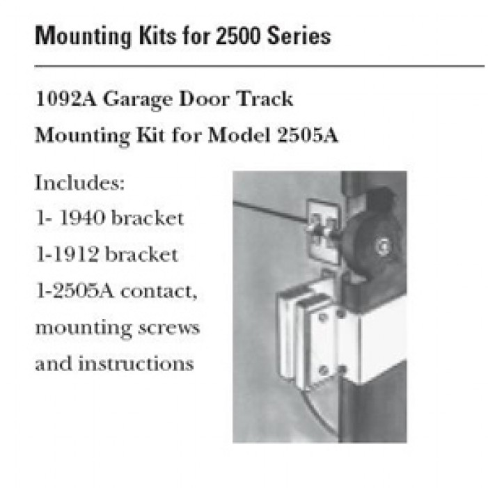 Interlogix 1092A-L Garage Door Track Mounting Kit for 2505A