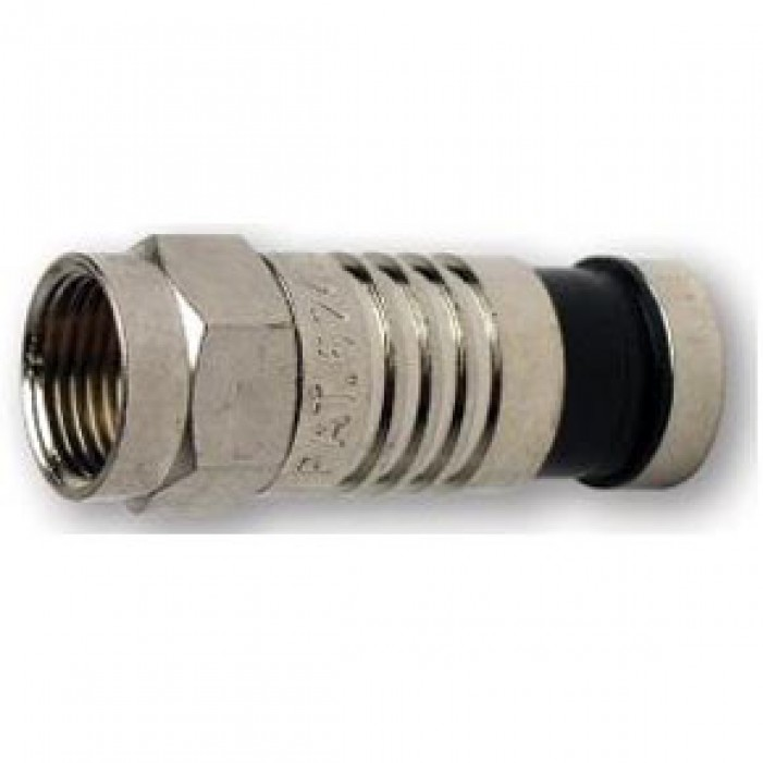 Platinum Tools 18006 F RG6 Compression Connector Nickel Plate