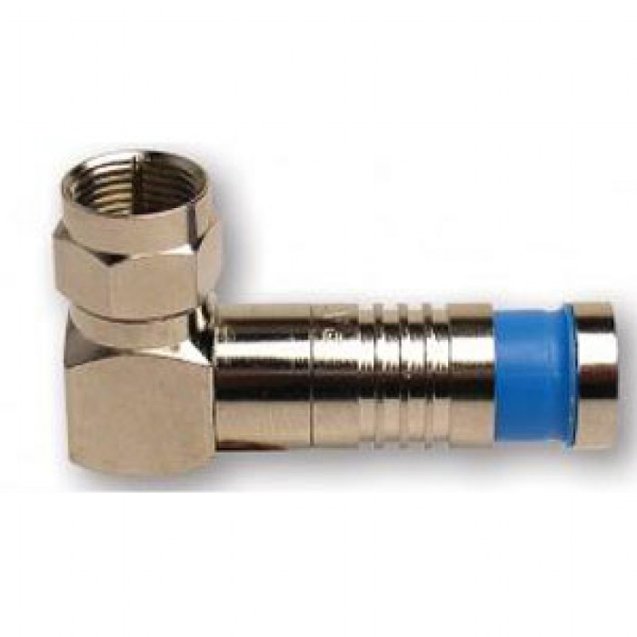 Platinum Tools 18011RA F RG59 Rt Angle Compression Connector