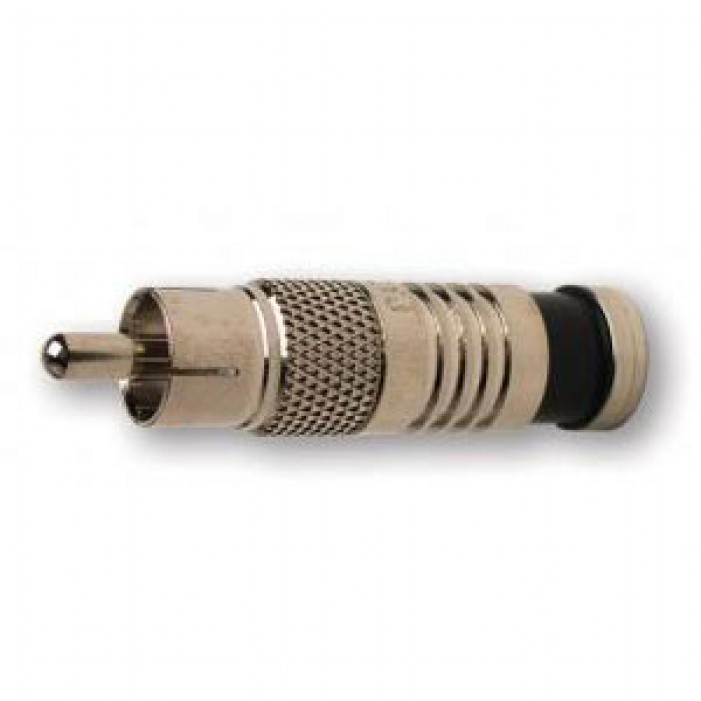 Platinum Tools 18051 RCA RG6 Compression Connector, Nickel Plate