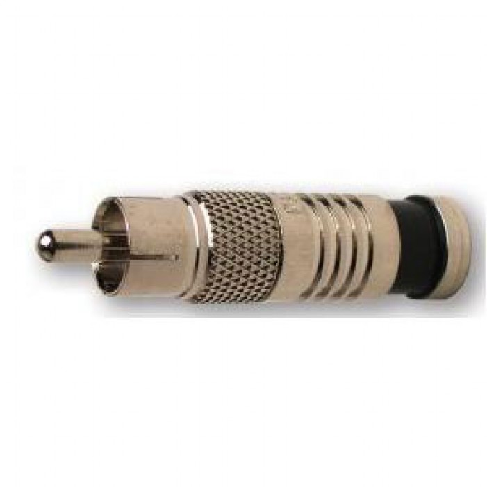 Platinum Tools 18051C RCA-Type RG6 Nickel SealSmart Coaxial Compression Connector. 6 pc. Clamshell