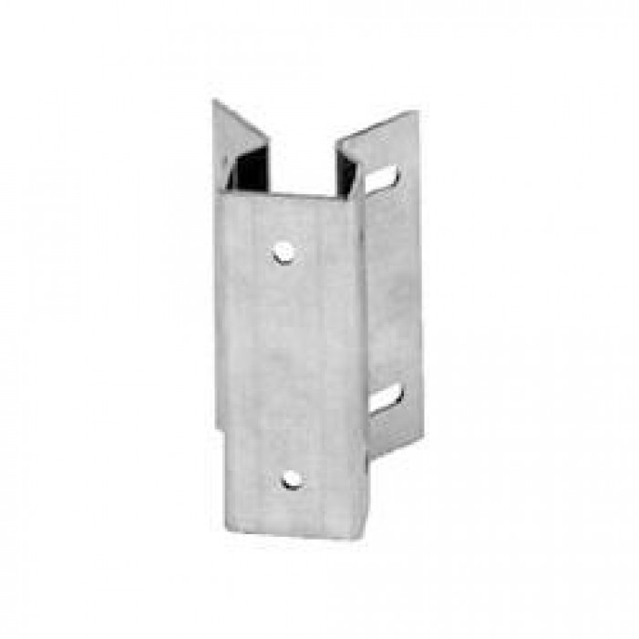 Interlogix 1941-L Chain Link Fence Bracket, 2500 Series, Aluminum, Anodized Finish, 1 3/8 to 2 1/2 Posts