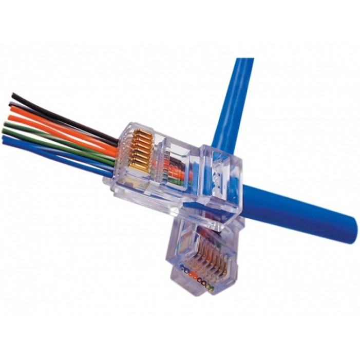 Platinum Tools 202003J EZ-RJ45(tm) Cat 5/5e Connectors, Jar of 100.