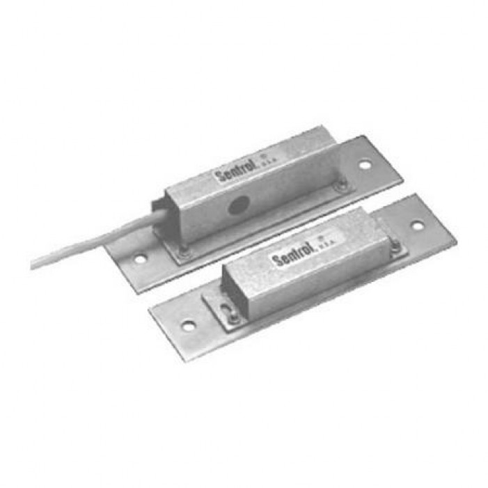 Interlogix 2757-L High Security Contacts, Triple Biased, SPDT, ANSI Recessed, 0 to 3/8 Gap Size. Single Pole-Double Throw. 3 Vinyl-Jacketed Cable