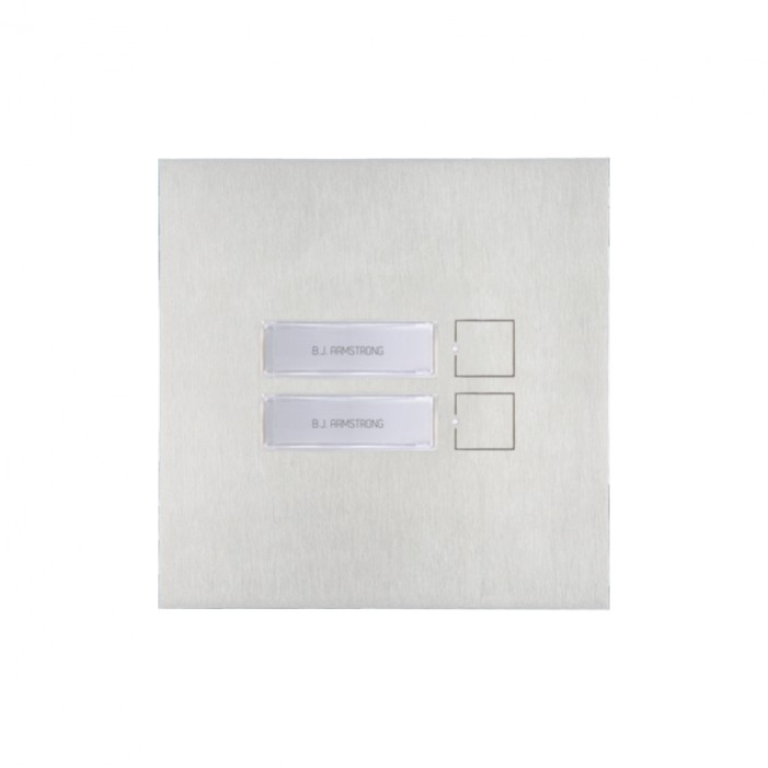 Comelit 3482 2 Button Module for SB and VIP Blank Nameplate