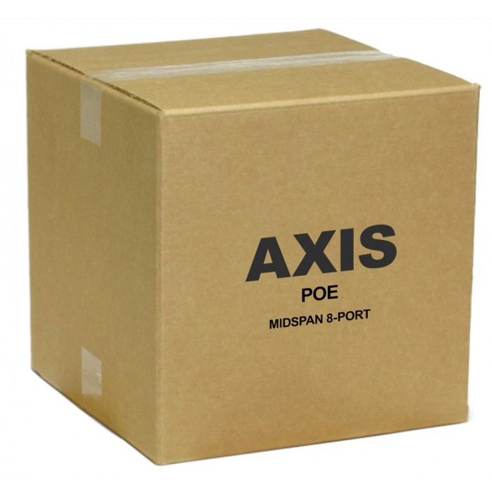 Axis 5012-004 Power Over Ethernet Midspan 8-Port