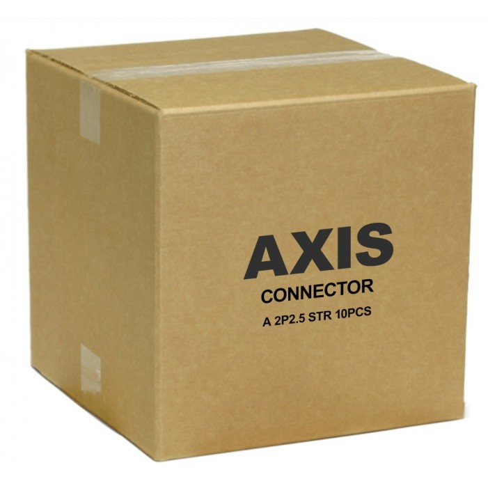 Axis 5505-261 Connector A 2-pin 2.5 Straight (10-Pack)