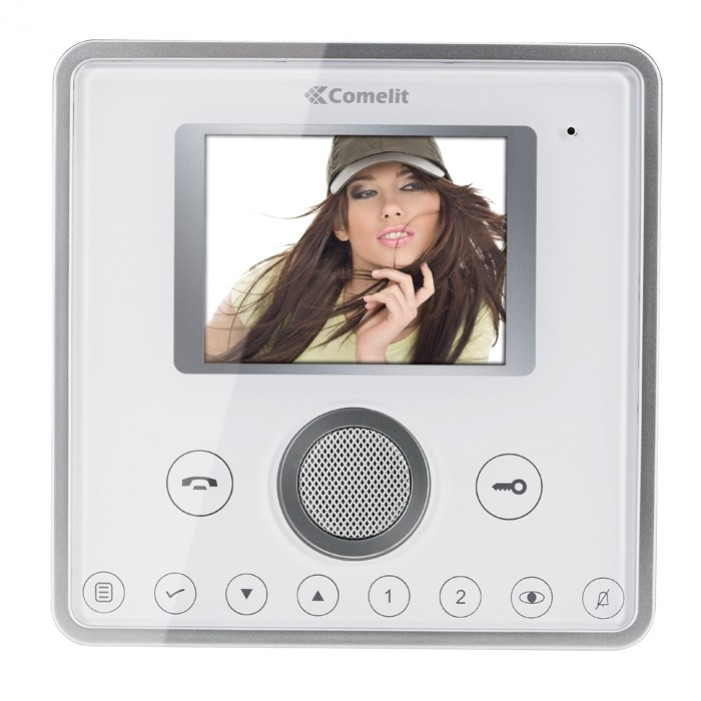 Comelit 6101W Planux Hands-Free Full Duplex Monitor-White Face Plate