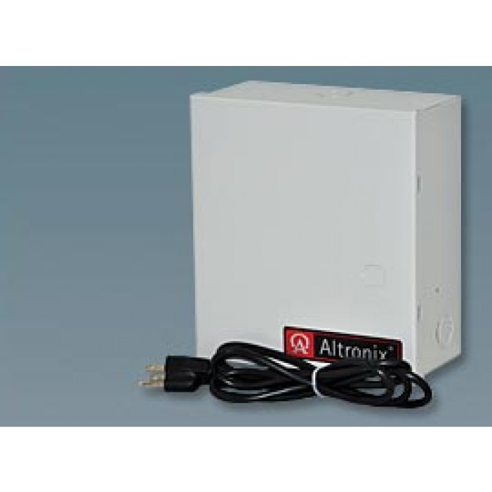 Altronix ALTV615DC48ULM 8 Output Power Supply, 6-15VDC @ 4 Amp, Class 2 Rated Fused Protected Power Limited, UL Listed, Mini Cabinet