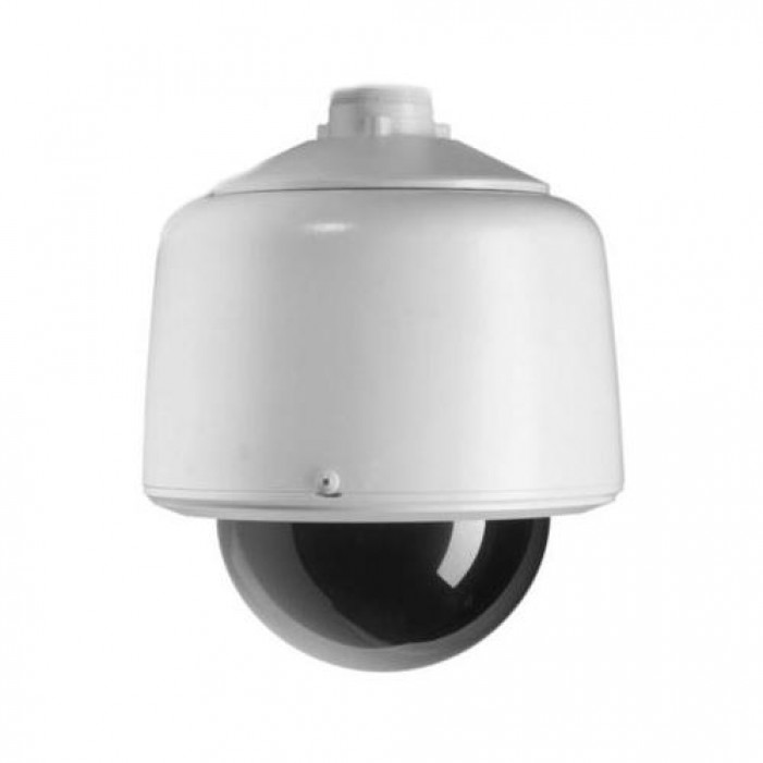 Pelco DF5-PG-E1 Fixed Mount Gray Pendant Outdoor Housing with Clear Dome