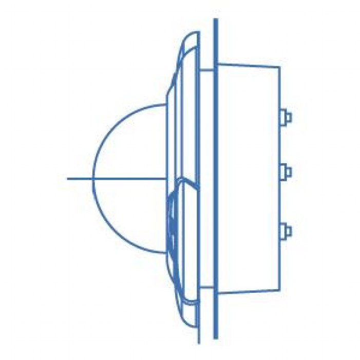 Interlogix DR-FM Flush Mount for UltraView Rugged Domes