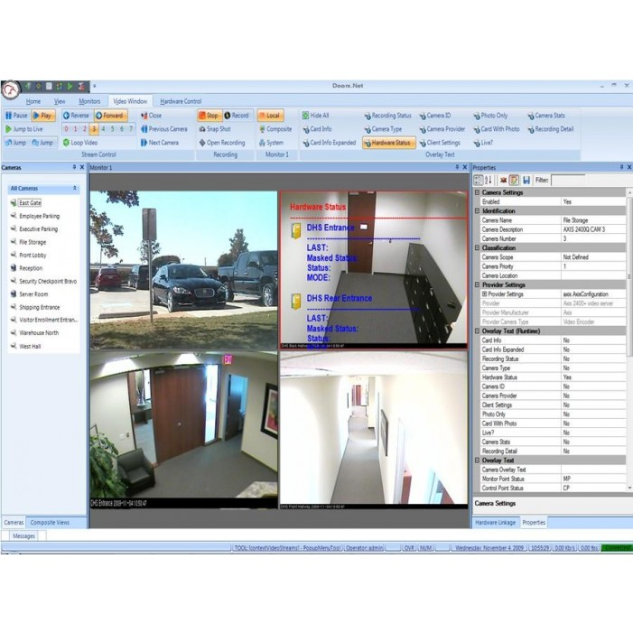 Keri Systems EVR-PLS Reflections Event Video Recorder Plus, Option for for 2 Clients, 4 Monitors, 4 Cameras